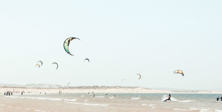 learning kitesurfing